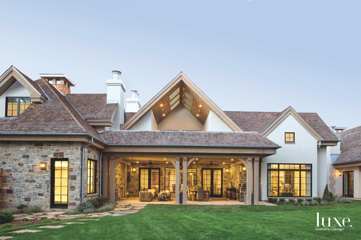 farmhouse neutral exterior landscape