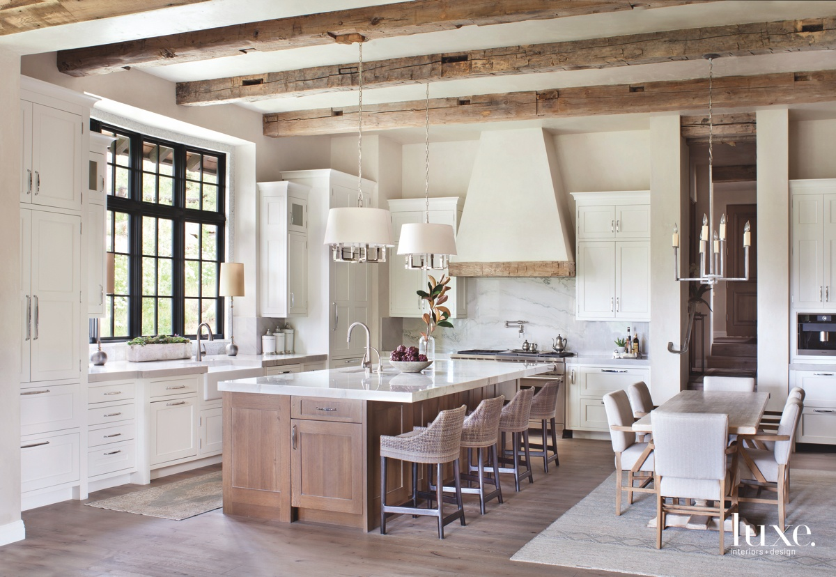 transitional neutral kitchen white cabinetry...
