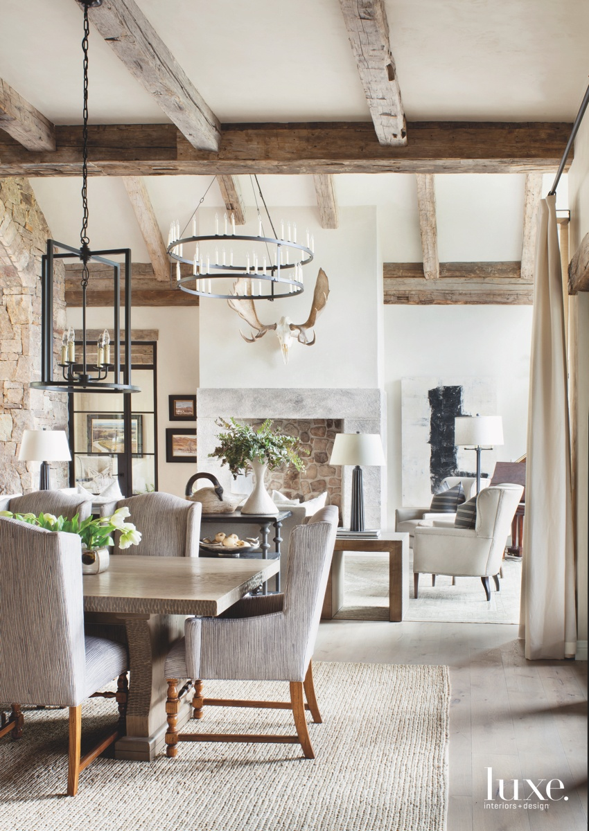 transitional dining area wool rug...