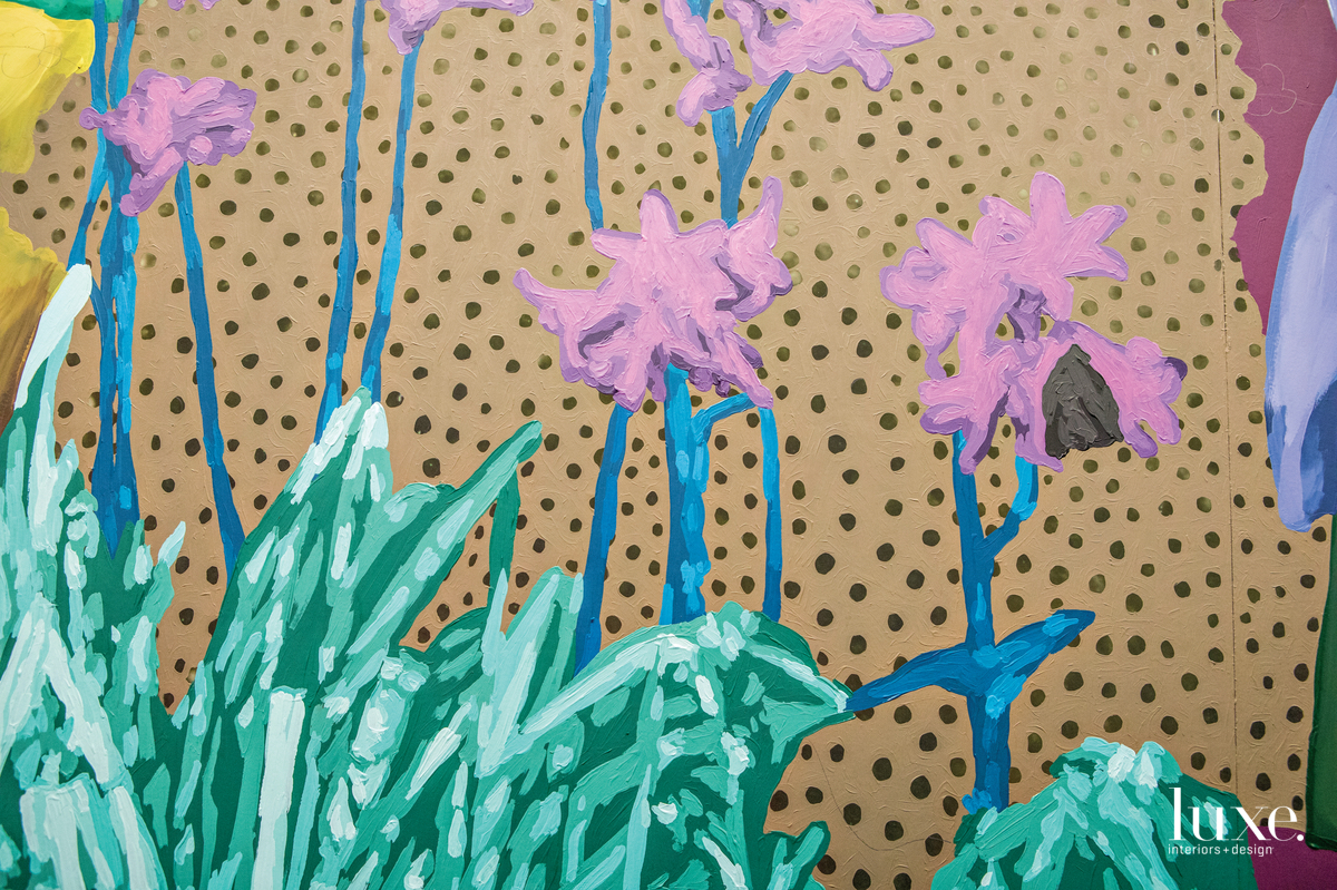 Florals are a frequent motif in artist Daisy Patton's work.