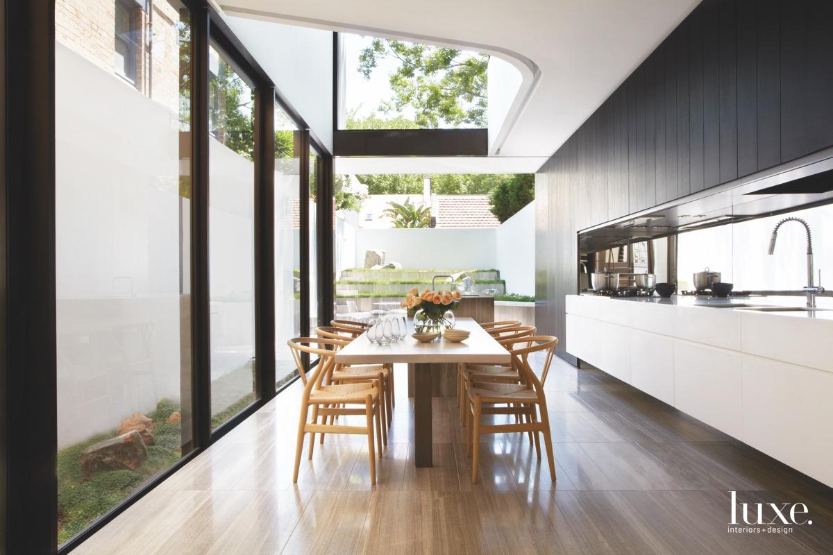 open air kitchen with retractable glass doors