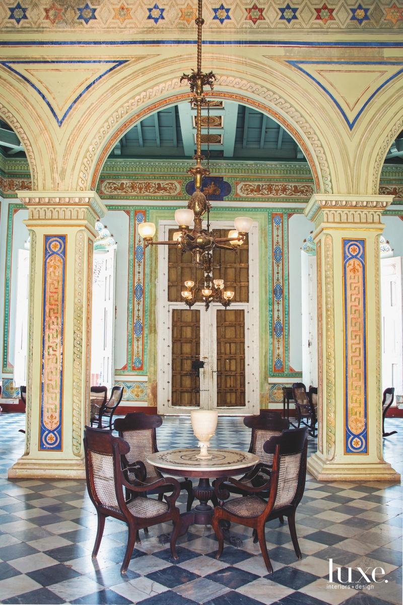 Interiors of the Palacio Cantero Museum in Trinidad, Cuba.