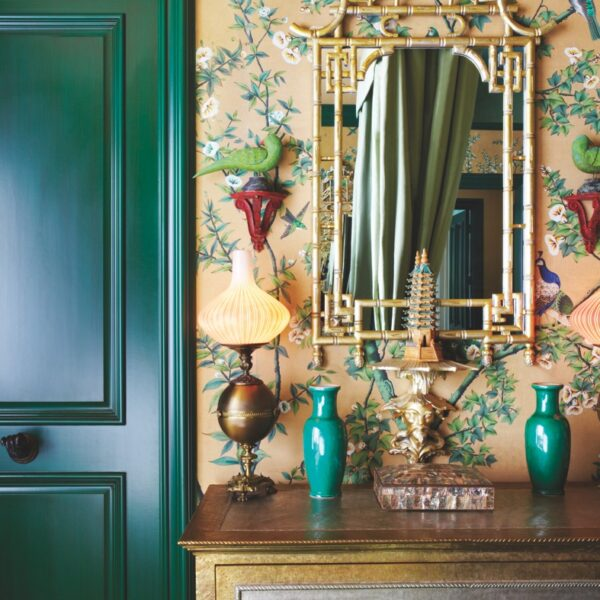 8 Green, Gold Accessories With Eastern Influence