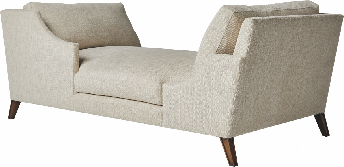 A finished chaise from the Sue Firestone collection.