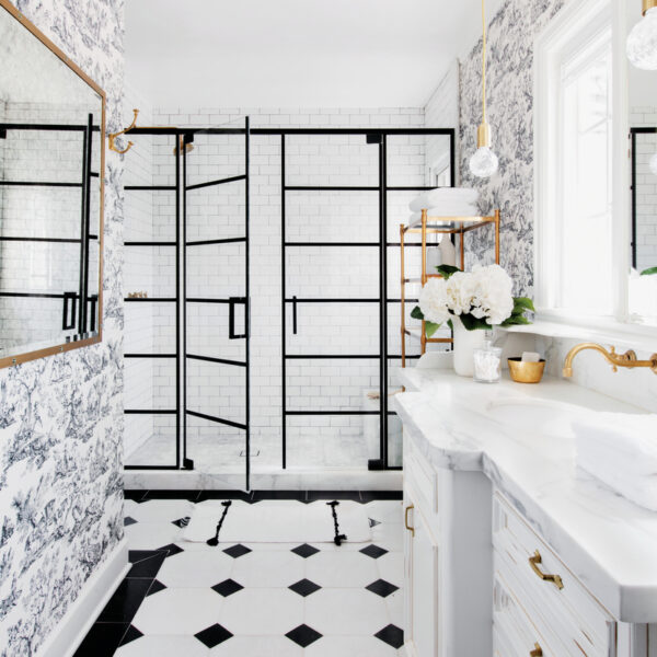Behind 2 Bathroom Designs With Timeless Touches