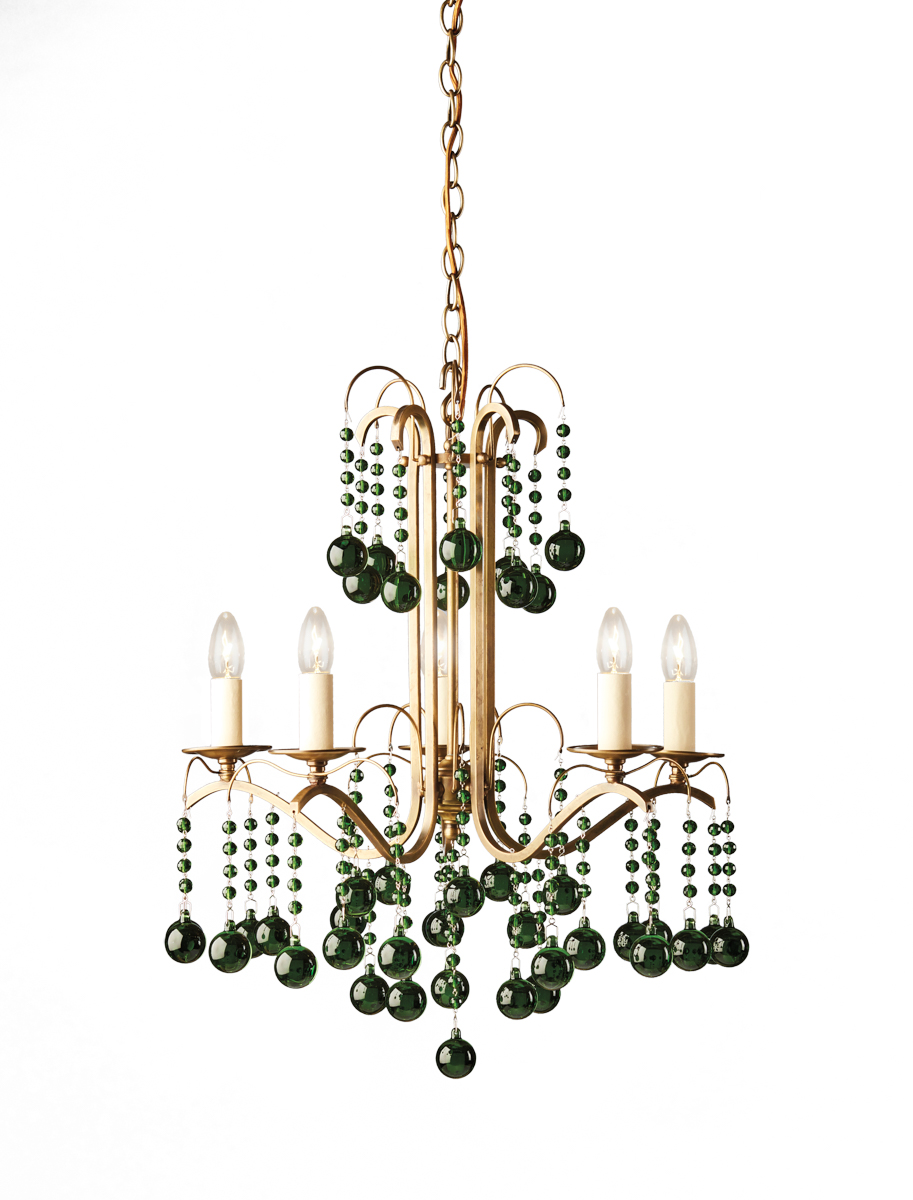 emerald glass sophie chandelier