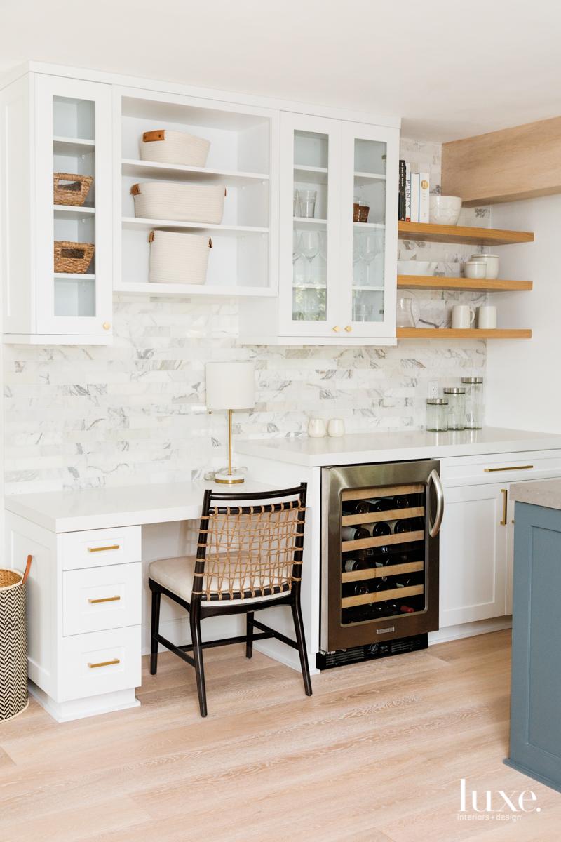 white kitchen with quartz countertops...