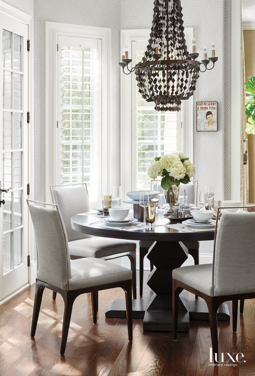 dining room table with contemporary...