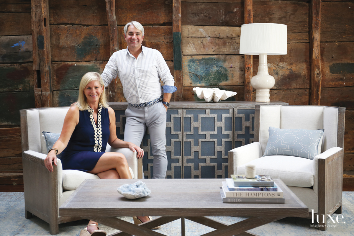 Designers Jennifer Mabley and Austin Handler have lived in The Hamptons for over two decades.