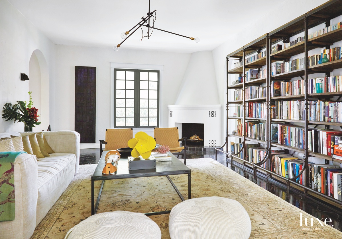 mediterranean living room neutral metal...