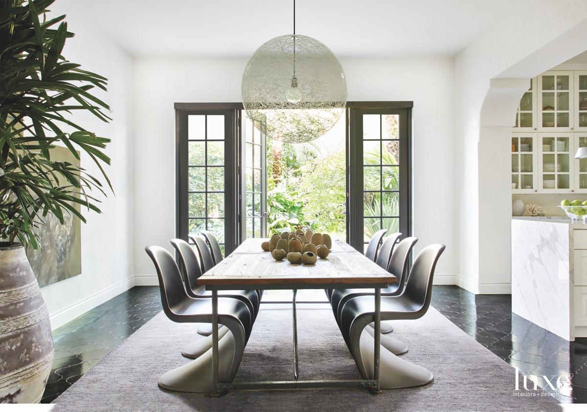 mediterranean neutral dining room glass...