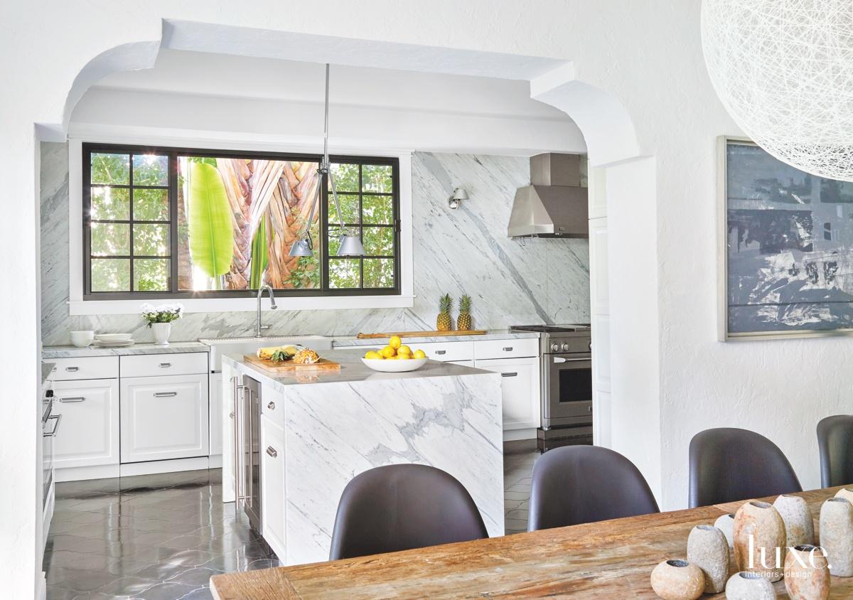 mediterranean kitchen white island