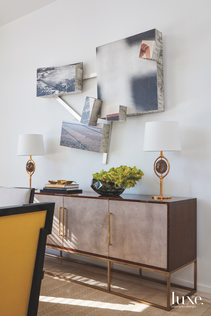 contemporary dining room wall sculpture...