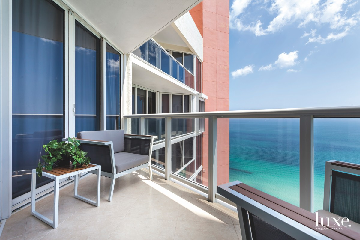 modern balcony ocean view exterior...