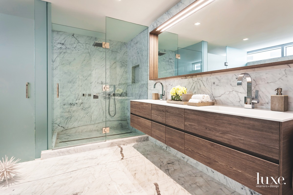 contemporary bathroom marble
