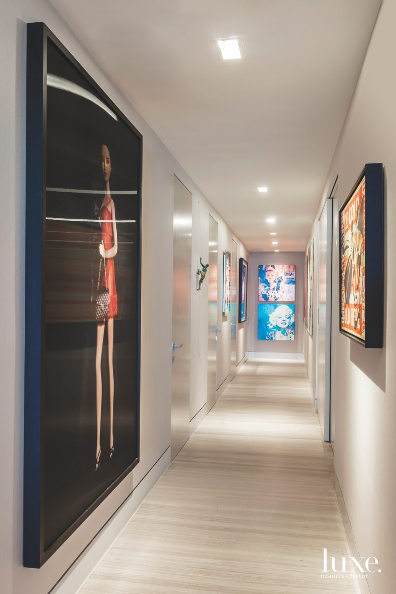contemporary hallway modern artwork