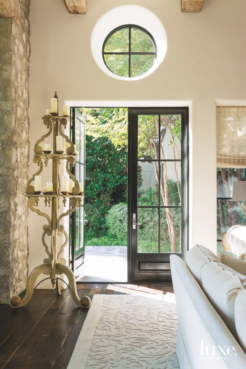 mediterranean entry living room oak...