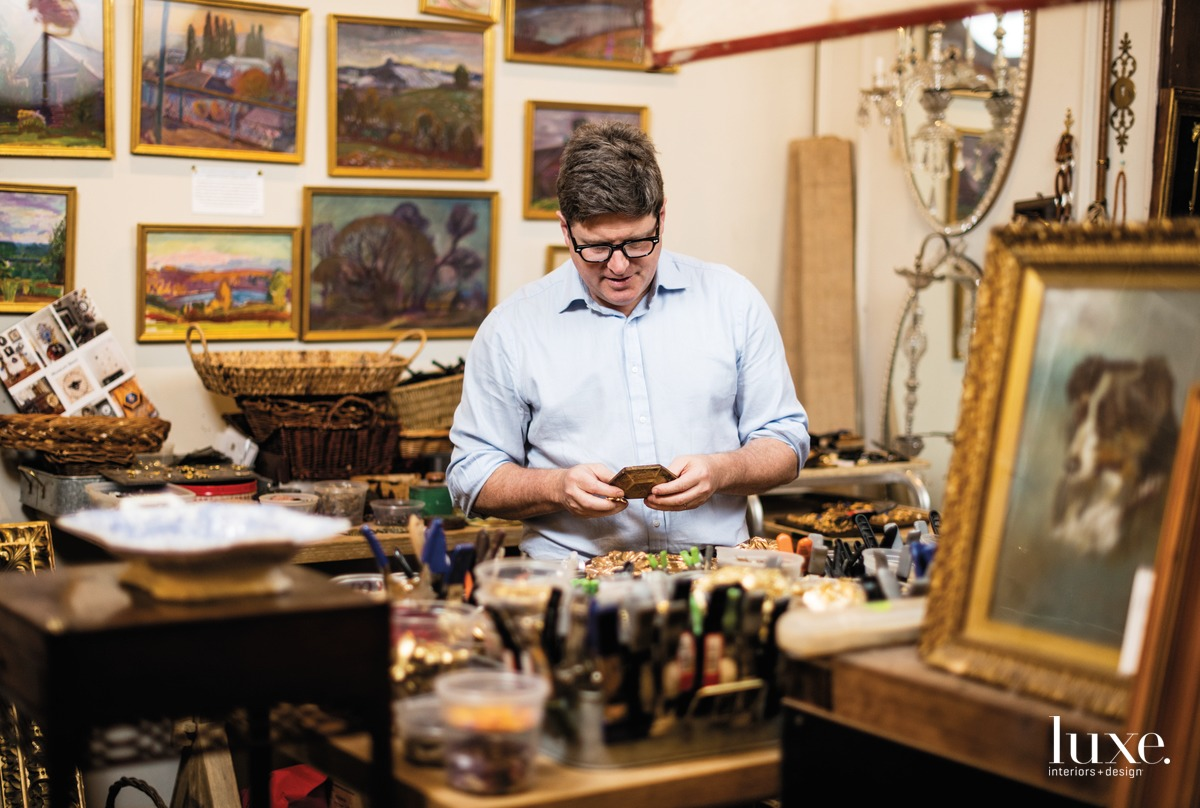"Kentucky antiques dealer Trace Mayer creates decorative works of art called Museum Bees from discarded frames, most of which are 19th-century American. Mayer is adamant about ensuring his work is accessible. ""It's about creating a luxury good everybody can participate in,"" he says."