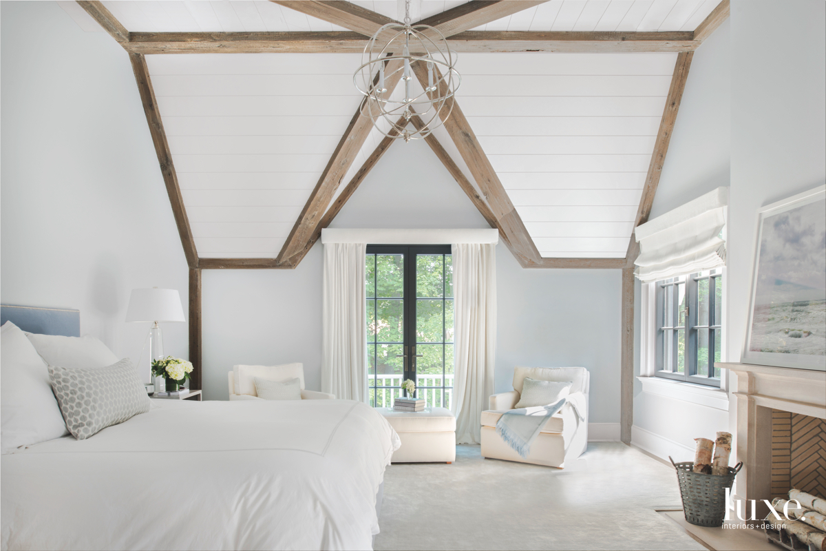 transitional white bedroom