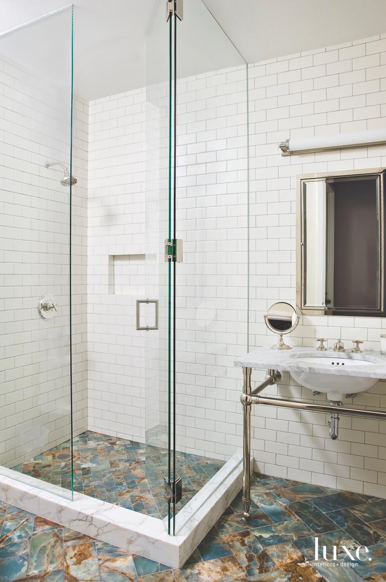 modern bathroom white tiles