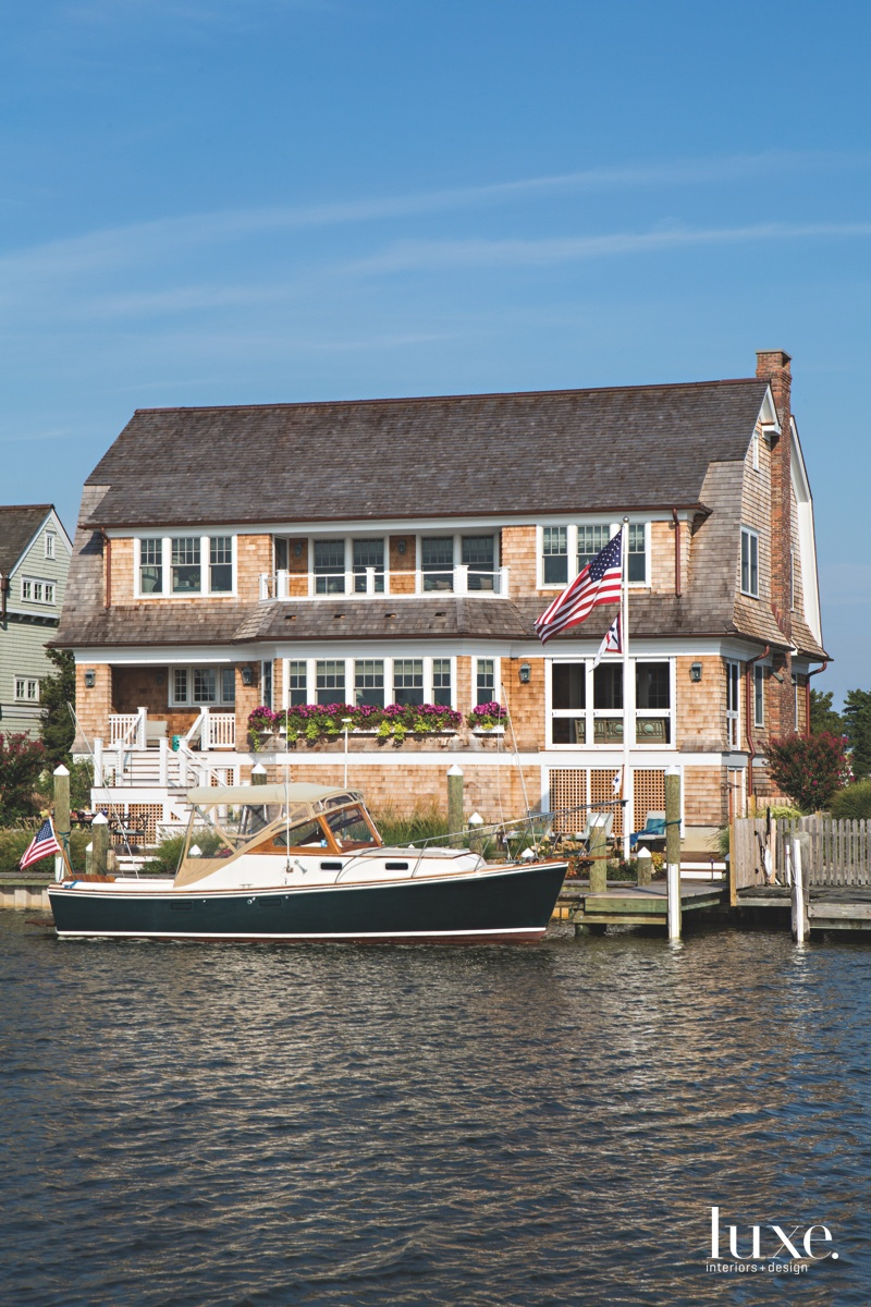 traditional exterior waterfront