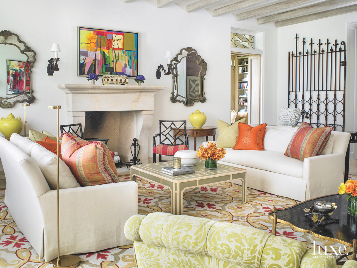 traditional colorful living room