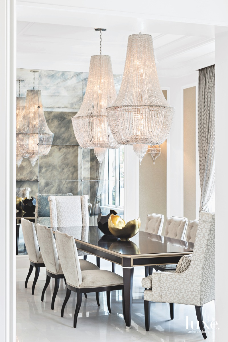 traditional gray dining room armchairs...