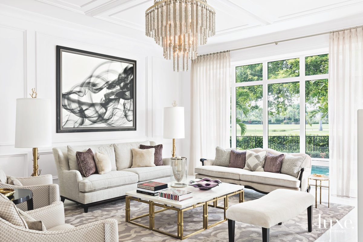 traditional living room neutral tones...
