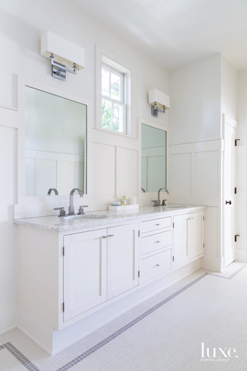 contemporary white bathroom sinks