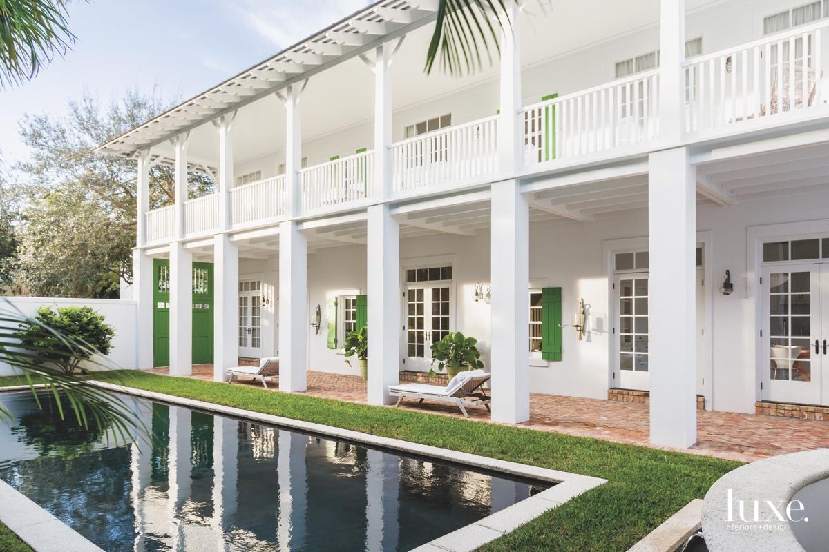 contemporary exterior pool patio terrace...
