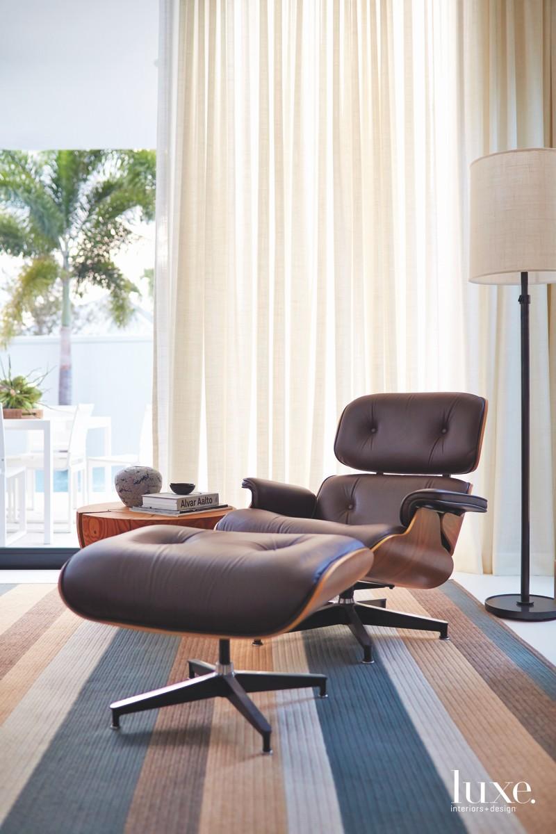 mid-century modern bedroom brown lounge...