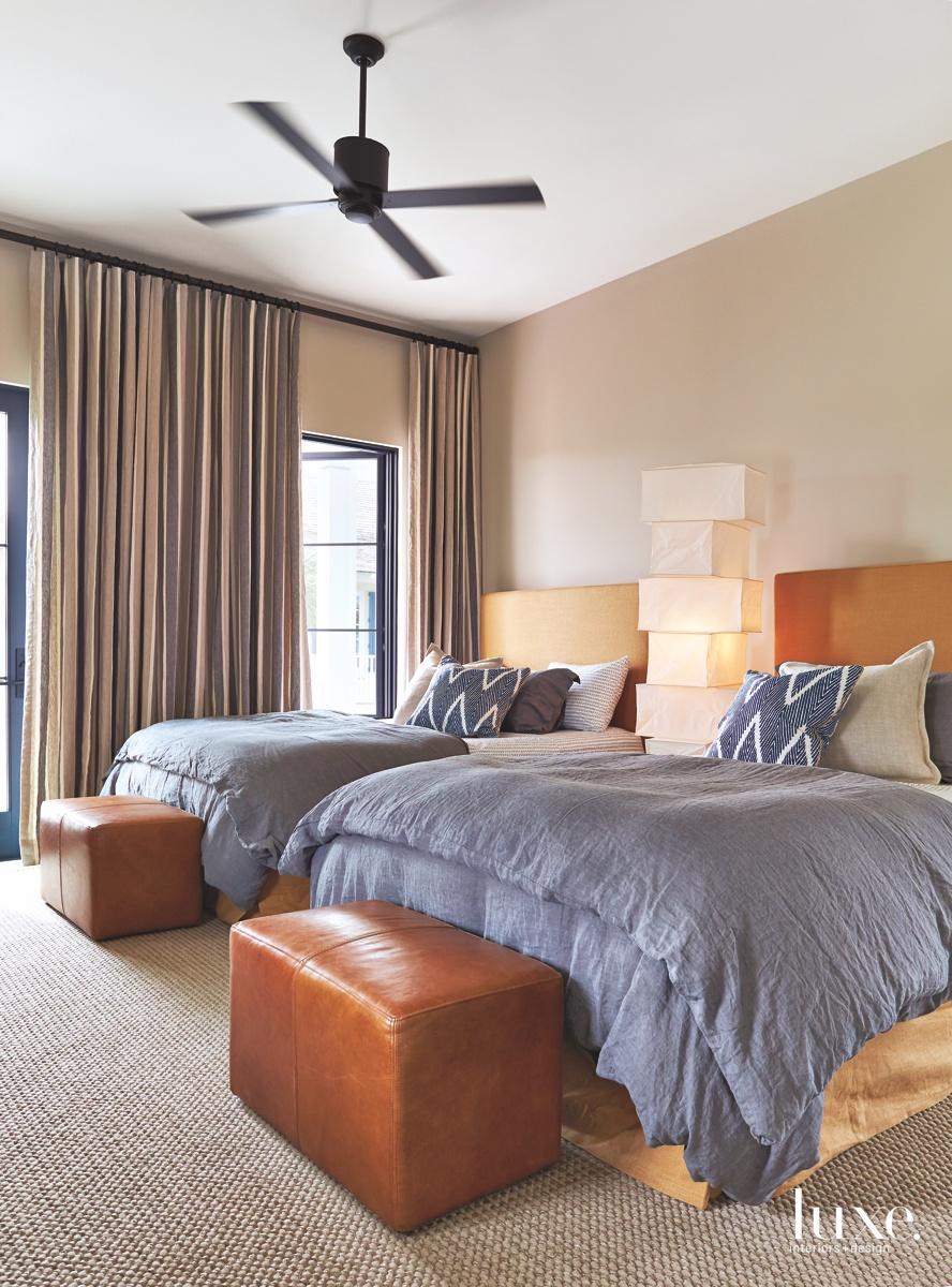 mid-century modern bedroom sculpture between...