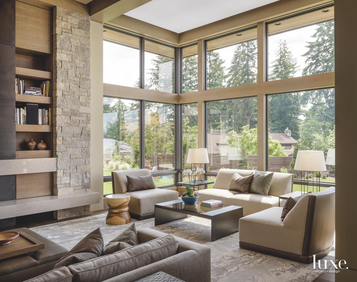 modern neutral living room glass...