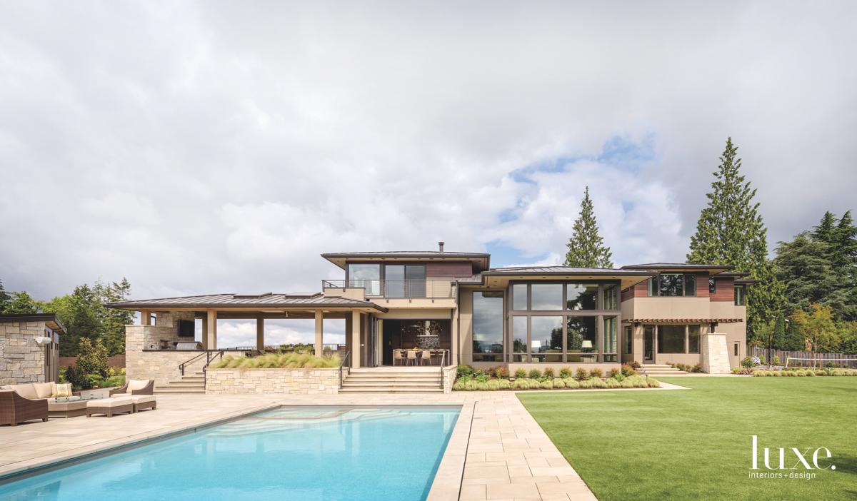 modern exterior pool