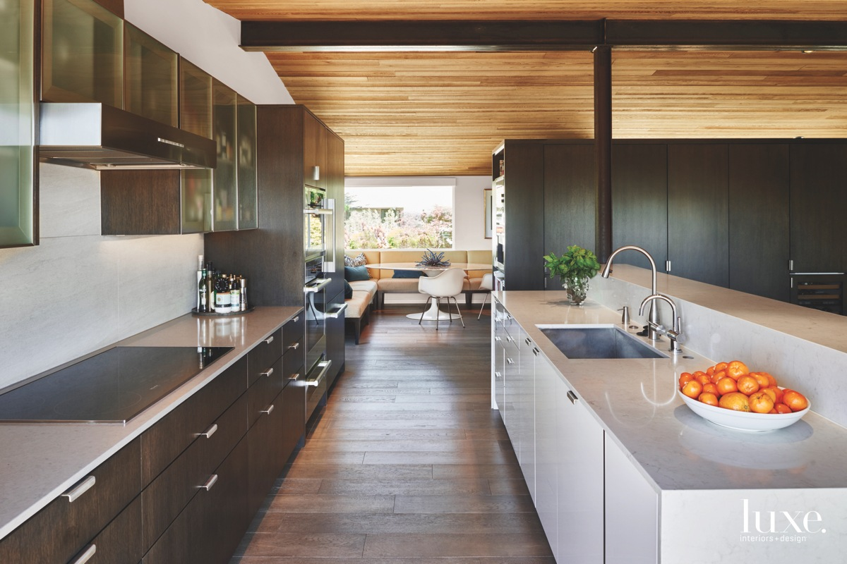 modern neutral brown kitchen