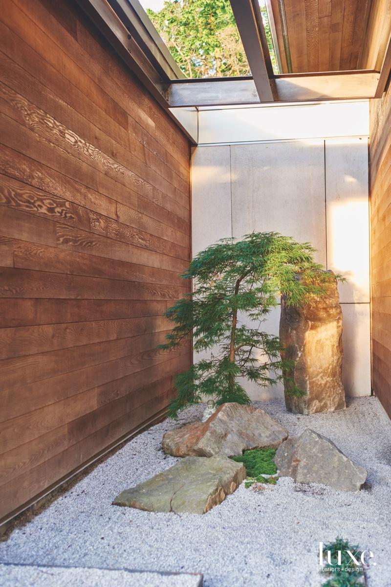 modern zen garden entrance hardscape