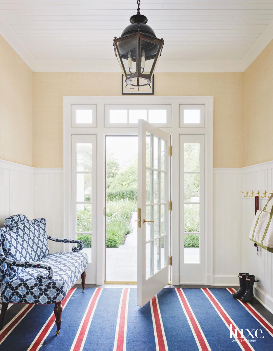 traditional foyer blue carpet blue...
