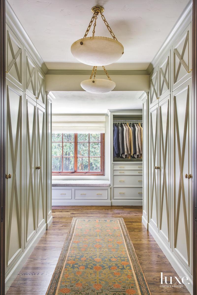 traditional master closet bedroom sunlight...