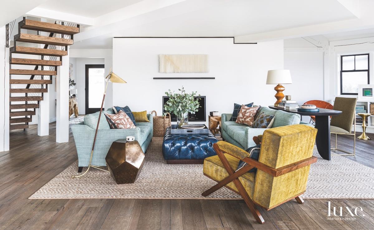 modern living room multi-colored
