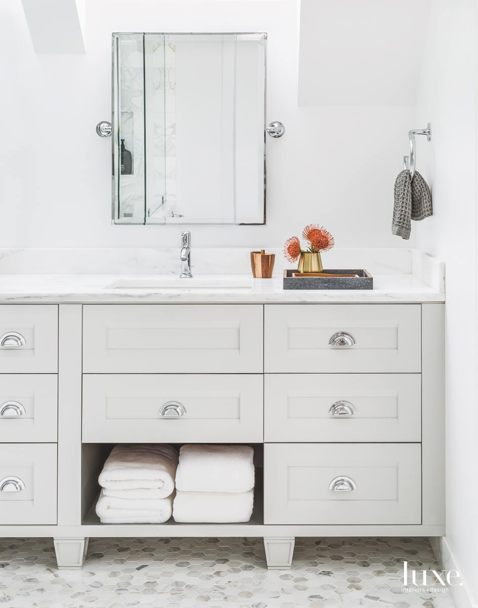 modern white bathroom vanity