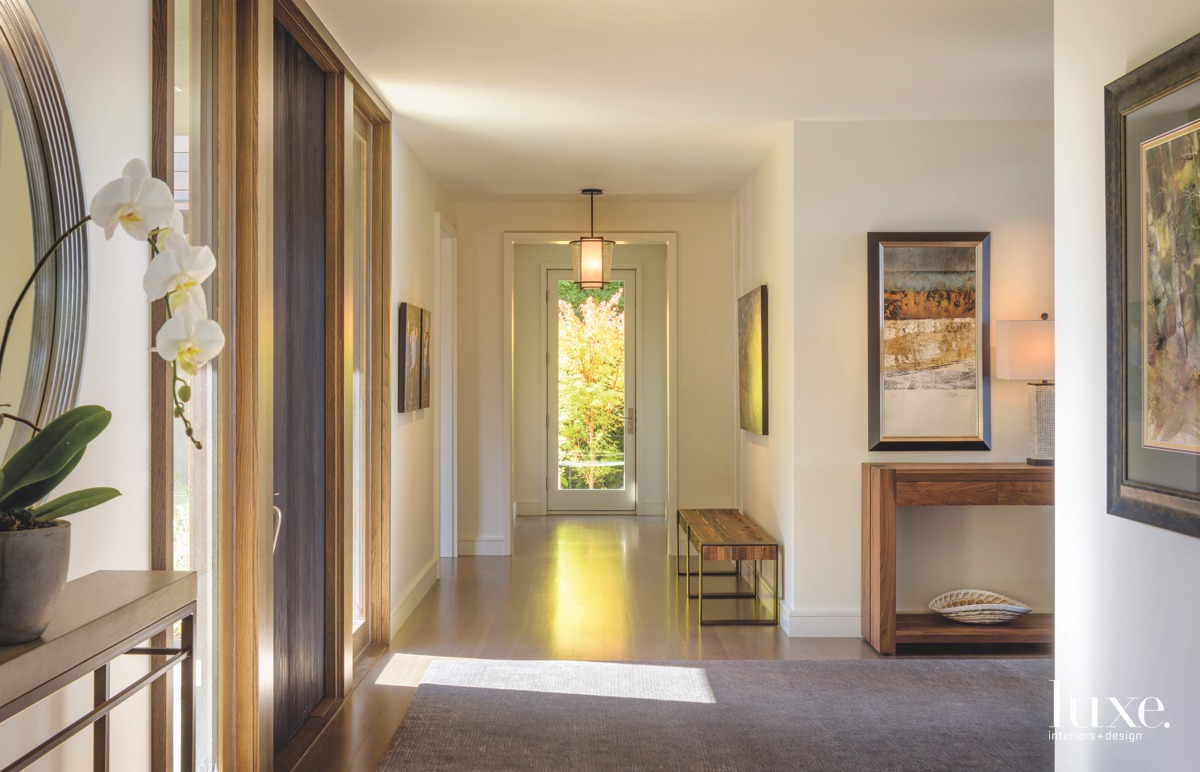 contemporary neutral entry hall