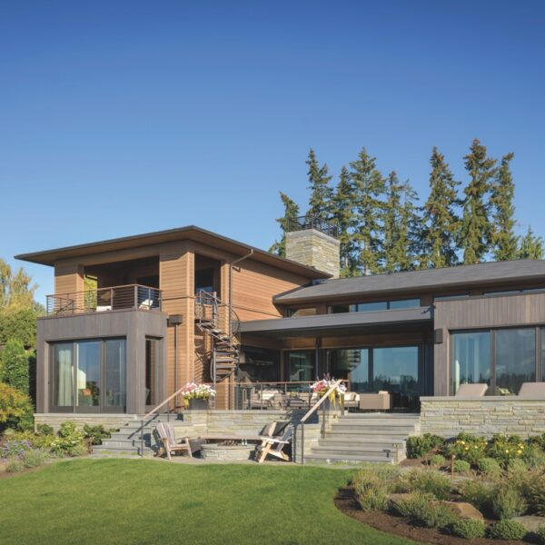 A Camo Jacket Inspires The Colors Of This Lake Home