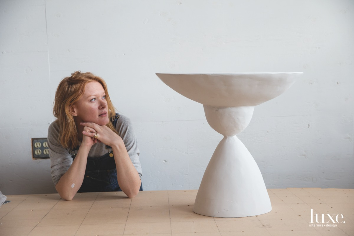 She has expanded her work to include sculptural tables.