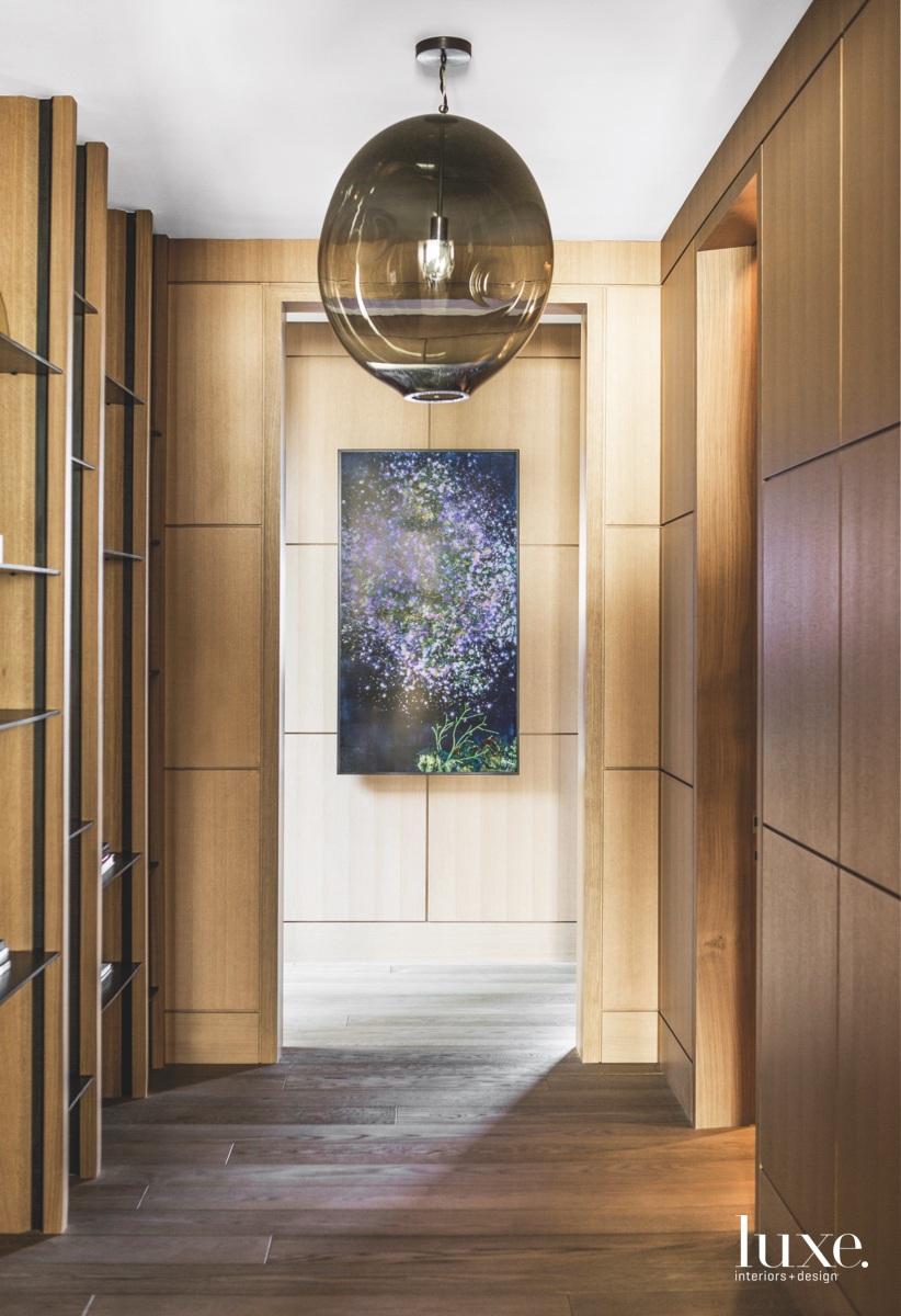 modern hallway wood furnishes
