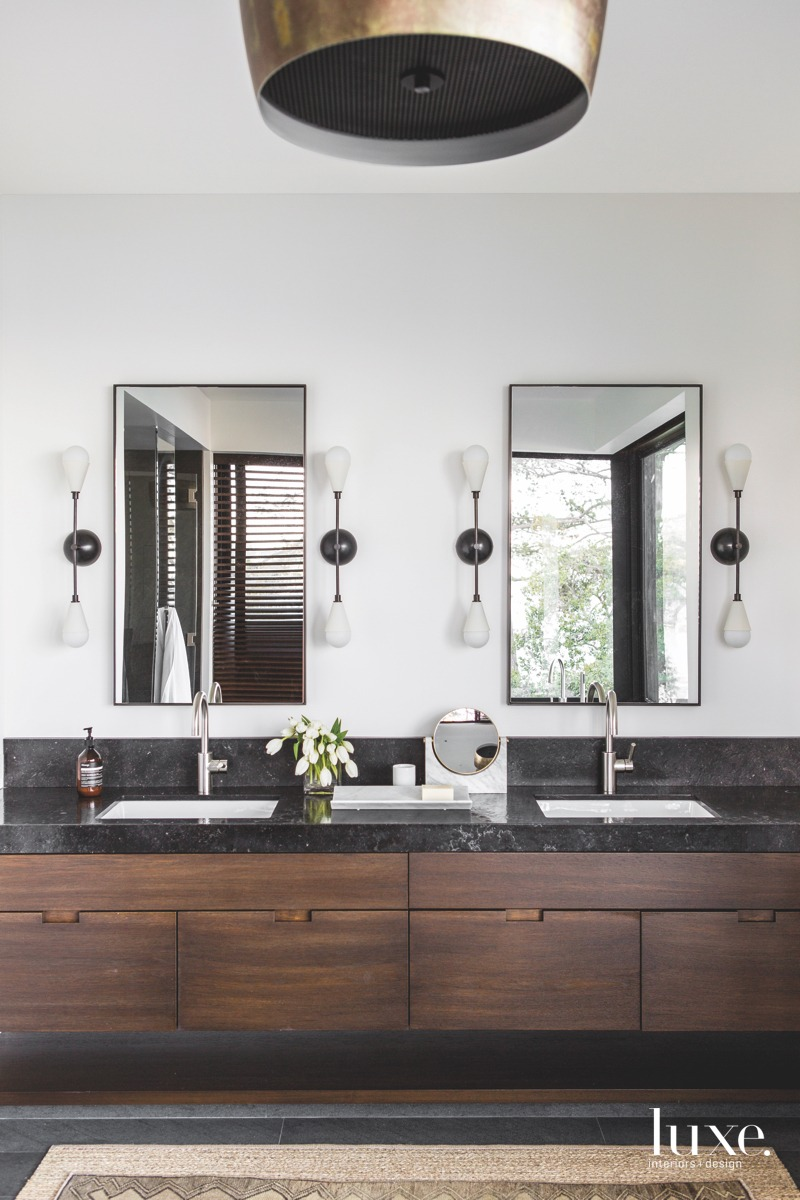 modern bathroom mirrors hanging pendant...