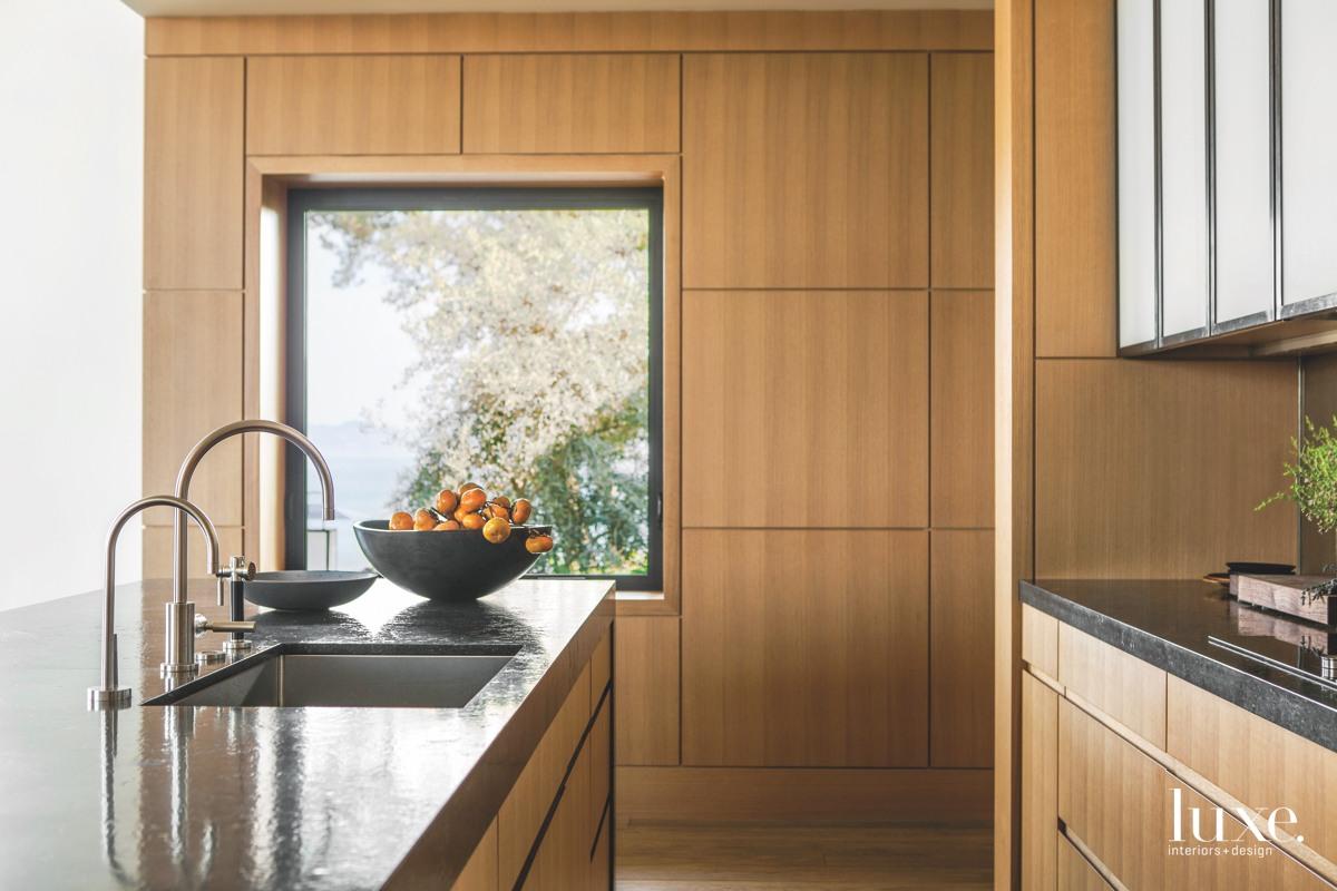 modern oak wood kitchen