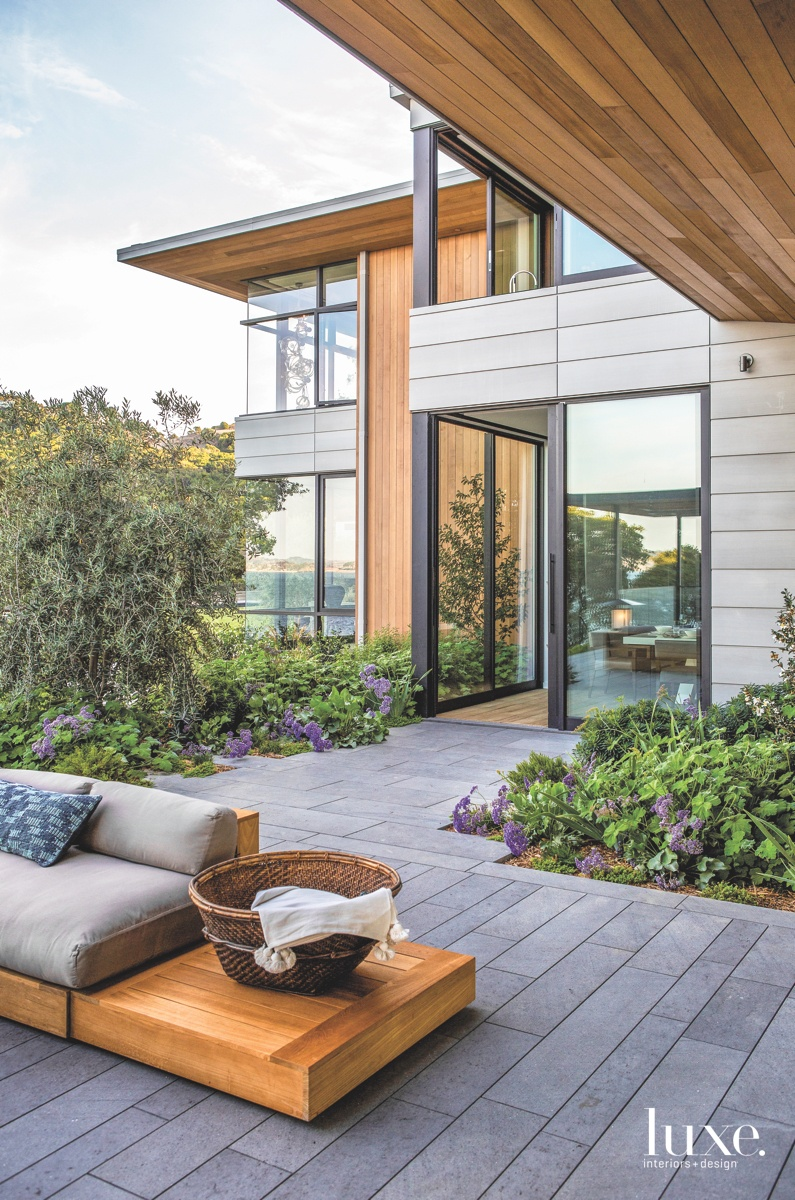 modern terrace exterior gray sitting...
