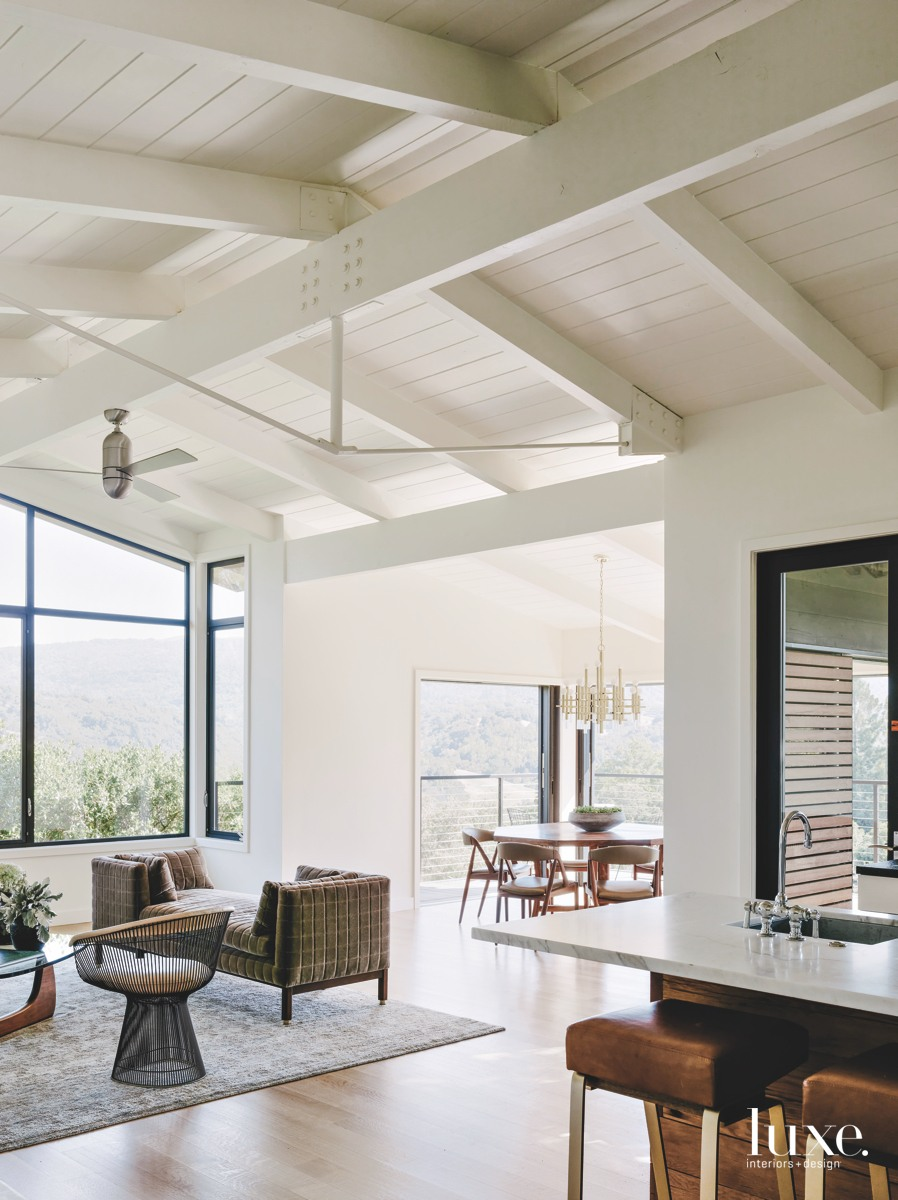 midcentury modern living area neutral...