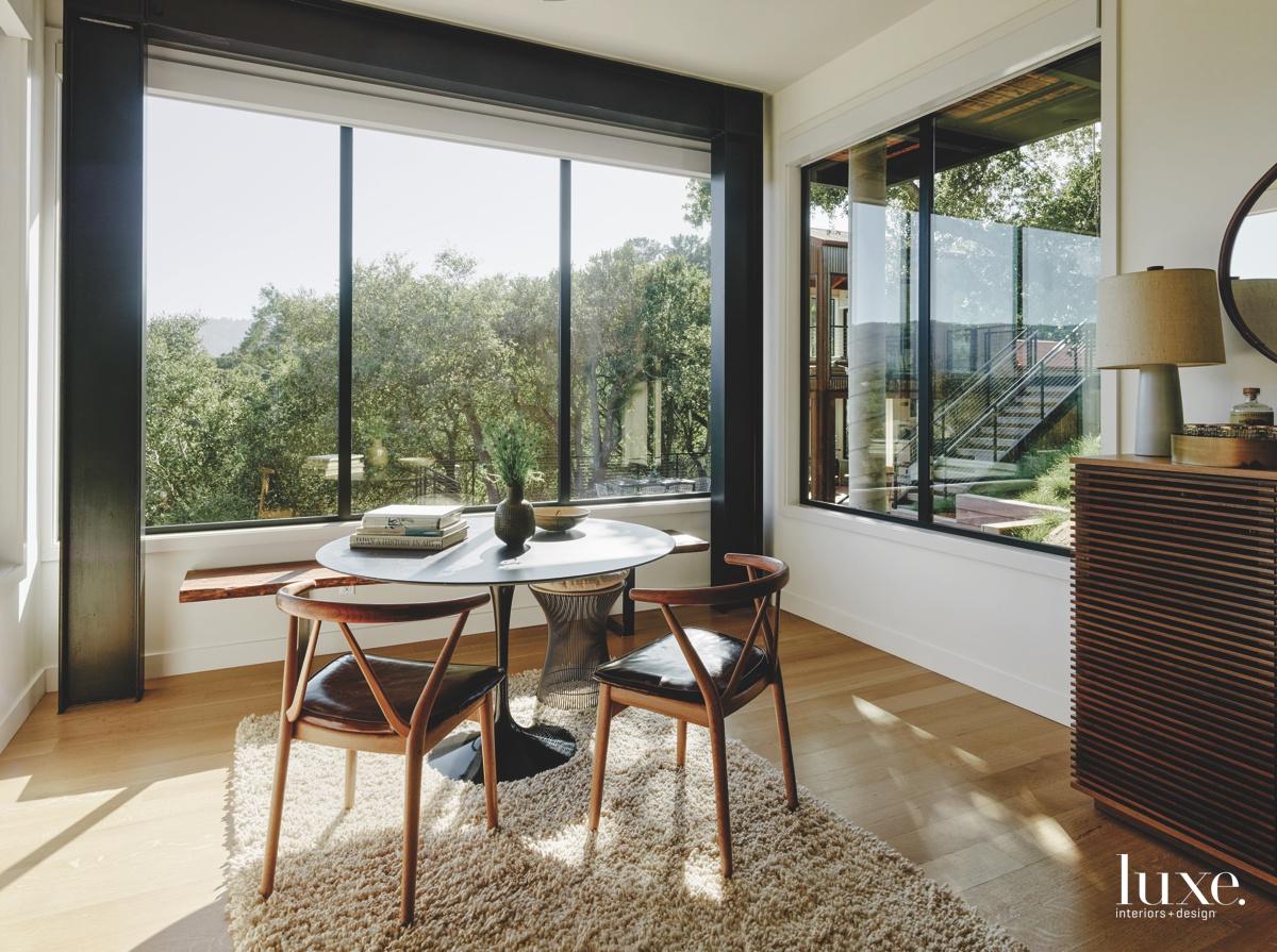 midcentury modern neutral family room...