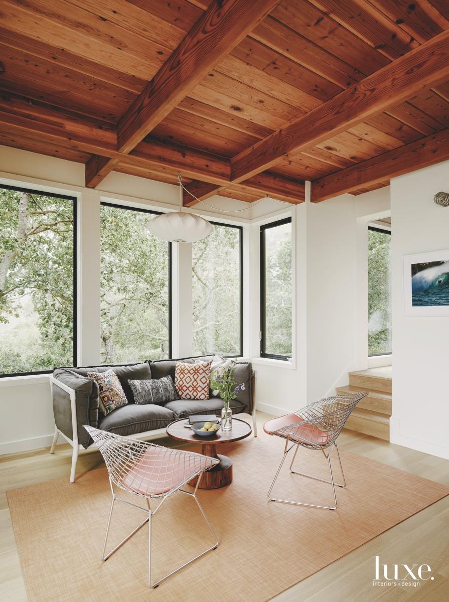 midcentury modern sitting area neutral...